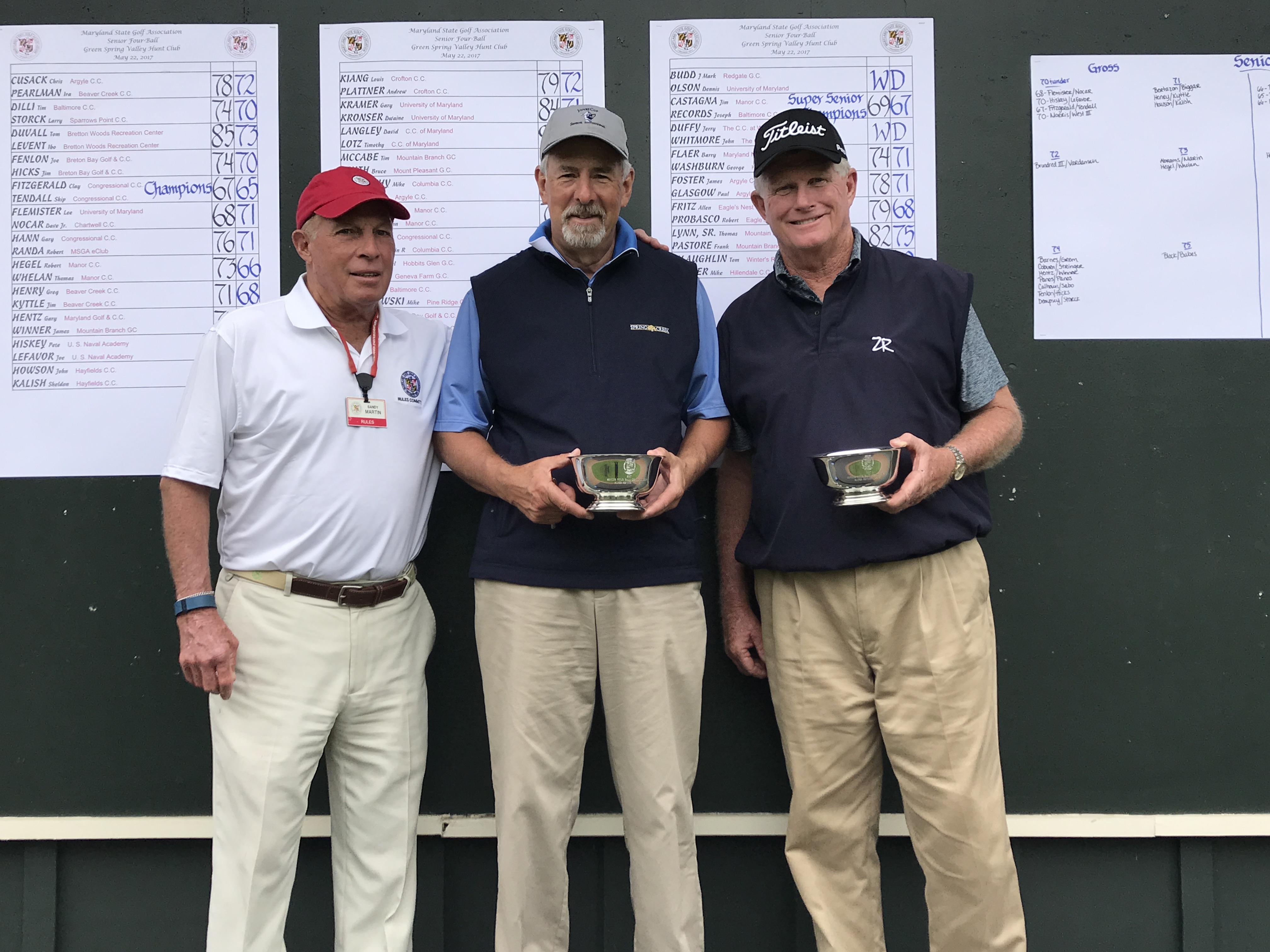 senior four ball results maryland state golf association msga